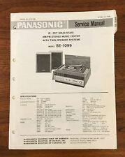 Panasonic SE-1099 STEREO SYSTEM Service Manual *Original*