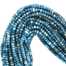 "3mm faceted blue apatite rondelle beads 16"" strand S2"