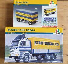 Italeri: 762 Scania 142H Canvas and Italeri 3880: Canvas Trailer