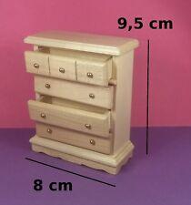 commode miniature,maison de poupée,vitrine,meuble chêne clair chambre  M1
