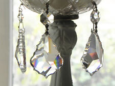 "12 Lead Crystal French Pendants Chandelier Lamp Parts 2""L Sun catcher Wedding"