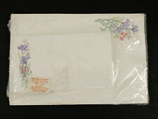 Current Floral Designed Stationery  20 Sheets 10 Envelopes Vintage 1988