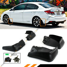 FOR 2012-15 9TH GEN HONDA CIVIC 4DR SEDAN MUD FLAPS SPLASH GUARDS SET FRONT+REAR