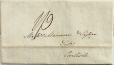 1823 KENDAL Westmorland pre-stamp entire charged 1/9 to Carlisle