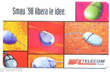 CONVEGNO SMAU 1998 RARA SCHEDA TELEFONICA TELECOM 874A VARIANTE