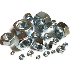 HEXAGON FULL NUTS BRIGHT ZINC PLATED GRADE 8  HIGH TENSILE METRIC DIN934 BZP