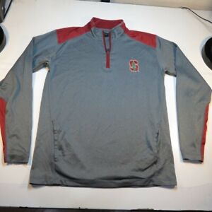 CHAMPION STANFORD UNIVERSITY CARDINALS 1/4 QUARTER ZIP PULLOVER SWEATSHIRT Sz M