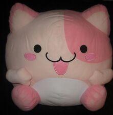 """Maruneko Club Pink Cat 13-14"""" Plush-Japan Ufo Catcher Cute Doll"""