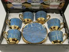 2.5 oz Espresso coffee.12 pc Cup and Saucer Set Coffee Tea Xmas Gift