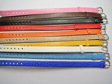 10 Mixed Colour Leatherette Bracelet Wristband WatchBand Fit 10mm Slide Charm