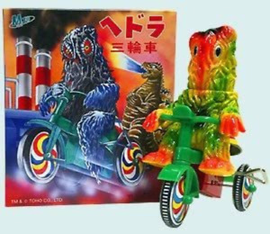 Hedorah tricycle M1 soft vinyl figure Godzilla made in Japan TOY Very Good