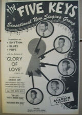 The Five Keys 1951 Ad- Glory Of Love