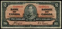 CANADA $2 DOLLARS NOTE 1937 COYNE~TOWERS #Q179