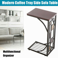 Modern C Shape Coffee Tray Side Sofa Table Couch Room Console Stand Elegant