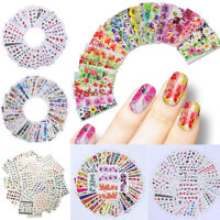 50 Sheets Mixed Designs Water Decals Transfer Nail Art Stickers  Tips