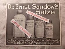 alte Werbung Reklame Anzeige Dr. Ernst Sandow's Salze Salz Bromsalz .. von 1913