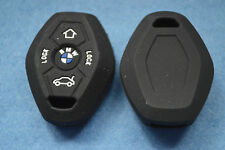 BMW Key Fob Cover in black with logo for E39;E46;E63;E36;E81;X5;Z3;Z4;UK Seller