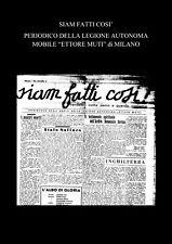 """CD  RSI """"SIAM FATTI COSI'"""" LEGIONE AUTONOMA MOBILE E.MUTI 27 NUMERI PDF"""