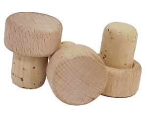 100 Griffkorken, Griff  aus Holz - Durchmesser Stopfen 19 mm - Super Qualität