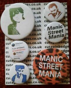 Manic street preachers 6 badges very good condition