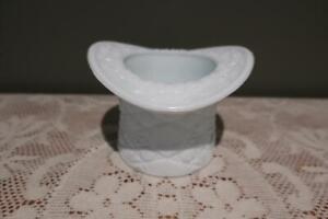 Large Vintage Fenton Daisy & Button Top Hat Vase - Milk Glass - Collectable Vgc