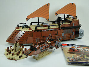 Lego Star Wars 6210 Jabba ´S Voile Barge sans Figurines Avec Manuel Oba