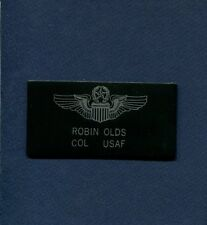 COL ROBIN OLDS USAF WW2 KOREA VIETNAM Fighter Squadron Name Tag Patch