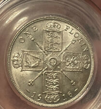 More details for great britain 1916 silver florin george v. high grade gef/aunc