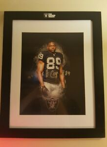 "Amari Cooper Autographed Framed Photo 10-1/2 X13-1/2"" With the NFL Raiders Image"