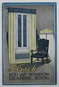 Vintage Architecture Curtain Drapes Catalog Kirsch Rod Window Treatment 1922