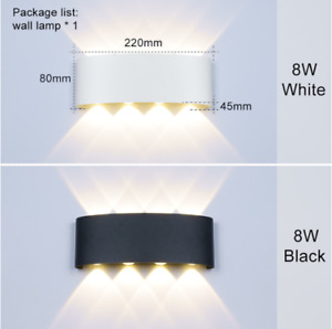 Nordic Wall Lamp Led Aluminum Ip65 Outdoor Up Down wall lights Modern For Home