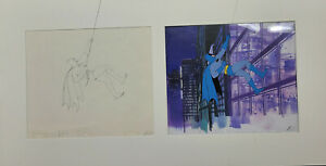 Batman- Superfriends- Original Production Cel With Matching Original Drawing