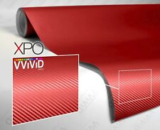 XPO Blood Red Dry Carbon Sample 2'' x 4'' Car Wrap Roll Vinyl Air Release