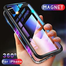 360 degree Magnetic Tempered Glass Case Back Cover for iPhone and Samsung