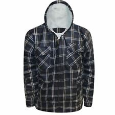 Mens Hooded Lumberjack Fleece Lined Sherpa Fur Hoodie Jacket Padded Work Shirt