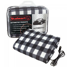 Electric Car Blanket- Heated 12V Polar Fleece Travel Truck and RV Multiple Color