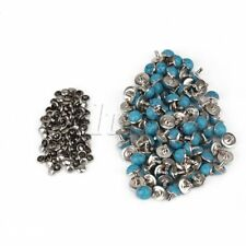 100pcs 10mm Blue Turquoise Rapid Rivet Studs for Leather Belt Craft Fitting