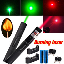 New listing 2Pc 900 Miles Green&Red Laser Pointer Lazer + 18650 Rechargeable Battery+Charger