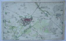 LAON FRANCE France Aisne Kolor Orig CUIVRE clés carte 1838