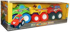 Juguete de 3 Mini Monster Trucks Nuevo