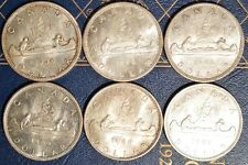 Canada Silver Dollars - 1963-1967 - circulated Pick one or more dates .800 FINE