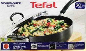 "Tefal Hard Anodized Aluminium 12""/30cm Deep Saute Pan/Skillet 4.73L/5Qt"
