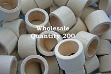 200pcs Bulk Unfinished Wood Napkin Ring Holders Diy Wedding Table Decor