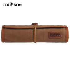 Tourbon Wax Canvas&Leather Organizer Tool Holder Roll Up Pouch w/ Zipper Pocket