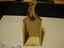 Primitive new chippy tan wood wall shelf/candle holder w/ star