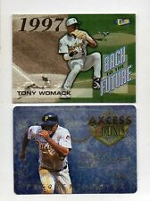 2-tony womack pirates card lot 1998 ultra back to the future 12 axcess ff4