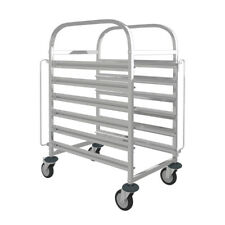 More details for 6 levels stainless steel catering racking trolley baking tray slot holder rack