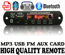 Bluetooth FM USB AUX Card MP3 Stereo Audio Player Decoder Module Kit with Remote