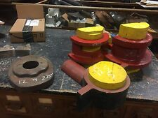 Lot of 4 c1940's shipyard WOODEN factory molds GEAR patterns - ALL 4 one price