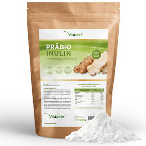 PRÄBIO INULIN PULVER 1,1 kg - Vegan Ballaststoffe - Darmflora Darm Laborgeprüft